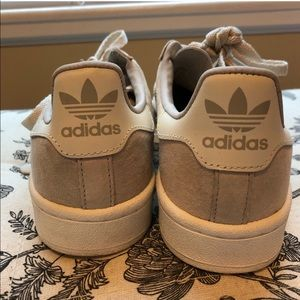 Adidas Tan and White Campus Sneaker